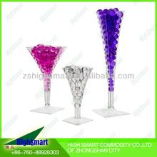 Multicolor Wedding Decoration Shining Round Shape Crystal Soil