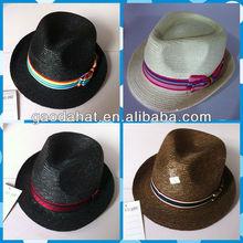 paper braid straw fedora hat,fashion fedora straw hat,fashion straw hat/cap
