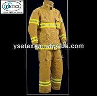Henan yellow 9OZ Cotton/polyester reflective fireman suits clothing