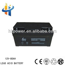 Lead acid battery for solar system , 12V 80AH deep cycle battery for ups, 80AH back up battery