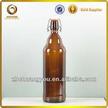 1L flip top beer amber glass bottle (CY-R-B271)