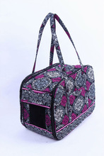 Quilted 100% cotton pet carrier