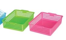 square plastic storage basket on hot sale