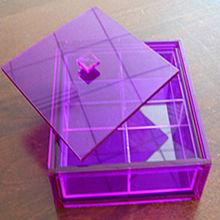 wholesale colorful acrylic plastic large compartment storage box