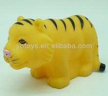 mini baby bath tiger toys,zoo animal set toys tiger soft animal toy