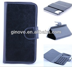 leather case with chuck,for samsung galaxy S4 i9500 leather case