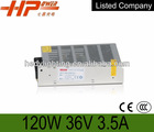 manufacturer CE RoHS approved constant voltage single output 120w 3.5a 36v led switching mode 110v ac dc power supply