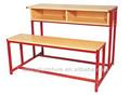 Escola de madeira banco da tabela ; escola padrão banco da tabela