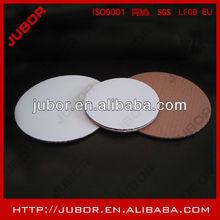high white coated cake circles
