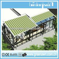 Durable aluminum pergola/retractable roof/awning mechanism