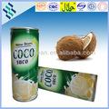 Populares del agua de coco en estaño sin pulpa