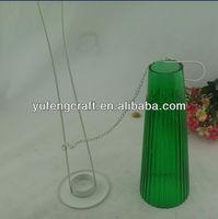 large hanging glass tealight holder