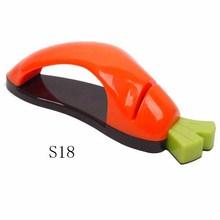 Funny carrot shape stainless steel knife sharpener
