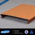faux bois faux plafond en aluminium