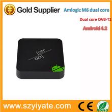 Android 4.2.2 MX dual core 1.5Ghz DVB-T2 tv box, 1GB 8GB,HDMI,AV,wifi Smart tv box
