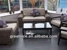 Popular rattan outdoor sofa set/rattan garden sofa/rattan leisure sofa with aluminum frame