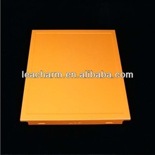 Hot sale acoustic office/shopping mall decorative suspended Aluminum ceiling board, clip-in aluminum ceiling tile