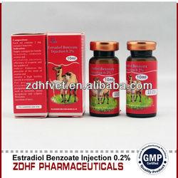 0.2% estradiol benzoate injection female animal aphrodisiac