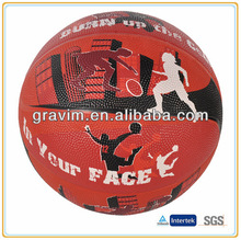 Fashion nature rubber colorful basketball