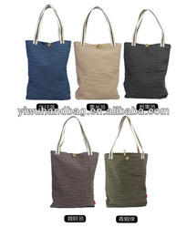 solid pattern eco silk shopping bags