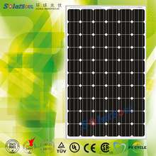high efficiency 255w large solar panels black with frame TUV UL CE listed