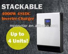 5kva 4000w 48v stackable solar inverter pure sine wave inverter charger