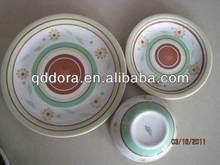 Round stoneware dinner set,fine stoneware dinner set,handpainted/stoneware dinner set