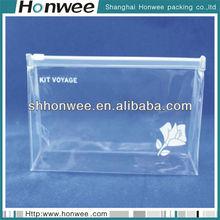 high quality clear pvc zipper cosmetic bag free sample