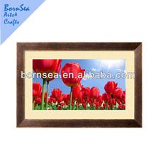 light red Tulip framed poster art
