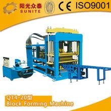 SUNITE QT4-20 porous brick Forming Machine/german block making machine/fly ash block forming machine