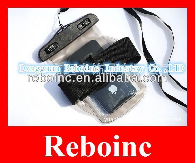 Waterproof clear PVC Mobile phone bag fix on arm D-W013
