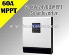3kva 24v 2400w mppt solar power inverter 2000w 24v inverter charger with 60a mppt solar controller