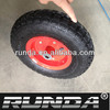 inflatable rubber wheel 4.00-6 for hand trolley