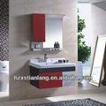 Red vaidade do banheiro espelhado com luz& armário lateral