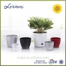 decorative plant pot,bright color flower pot,cheap plastic flowerpots