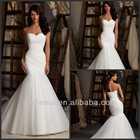 Wholesale Elegant New Sweetheart Mermaid Tulle Designer Bridal Dresses Wedding Dresses 2014 Made In China