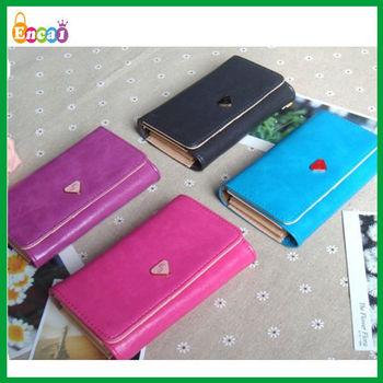 Encai Wholesale Fashion Phone Wallet/Mobile Phone Case/Cell Phone Bag For Apple Phone & Samaung