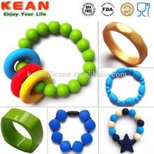 Latest Silicone Jewelry Multiple Shapes Chain Link Bracelet & Bangle Wholesale