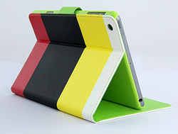 Newest design fashionable stitch case for ipad mini
