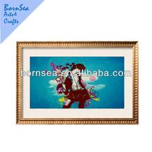 Blue backgroud rock man Framed Art Print