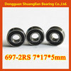 high quality rubber sealed deep groove ball bearing 697zz autozone bearing 697 2RS