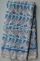 2014 di alta qualità 100% cotone swiss pizzo grande, africa abbigliamento, abito per aso EBI 2025 bianco blu