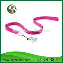 Different materials plastic/metal/silk/cotton ego lanyard/necklace e cigarette accessories