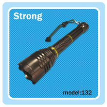 Function flashlight; magnetic control rotary switch led tactical torch light