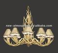 Real ANTLER dos cervos OBLONG CHANDELIER 8 lâmpadas, Iluminação rústica