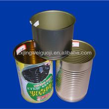 empty metal tin can for juice/herbal tea/coffee/fruit