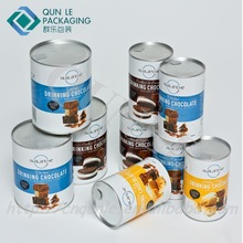 Hot Sale Custom Printed Empty Round Cardboard Paper Coffee Cans
