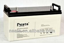 Sealed Deep Cycle 120ah lead acid 12v battery for solar systems