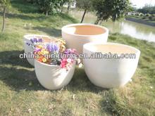 terracotta Trough Planter Garden Plant Pot for Outdoor Patio