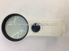 Hand-held lamp magnifer